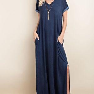 TOV Dresses - Blue Jean Colored Dress